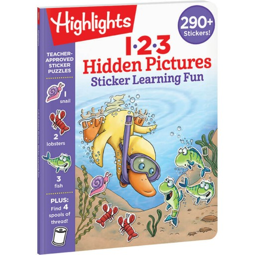 Hidden Pictures 123 Sticker Learning Fun book
