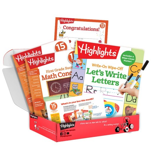 Highlights 15 Minutes a Day to School Success first grade subscription box