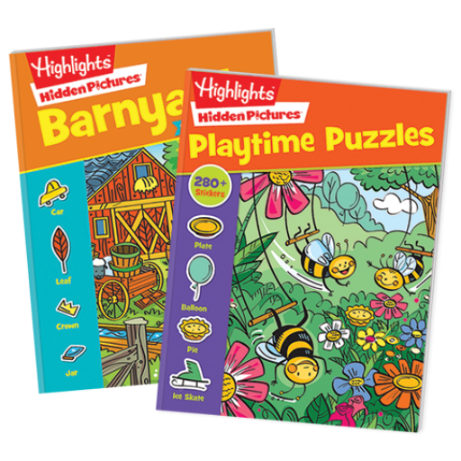 Hidden Pictures Stickers 2-Book Set: Playtime and Barnyard Puzzles