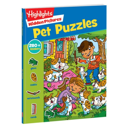 Hidden Pictures Stickers Pet Puzzles