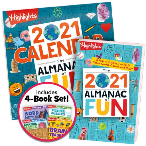 Almanac of Fun Book + Almanac of Fun Calendar + Puzzle Fun 2021 4-Book Set