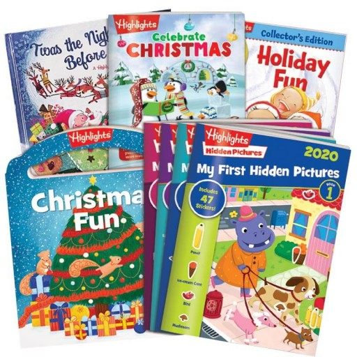Christmas Gift Set Plus HIDDEN PICTURES 2020 Ages 3-6