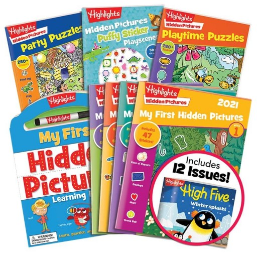 Deluxe My First Hidden Pictures Gift Set with 4 books, My First Hidden Pictures 2021 4-book set and High Five magazine subscription