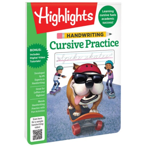 Handwriting Cursive Practice Book