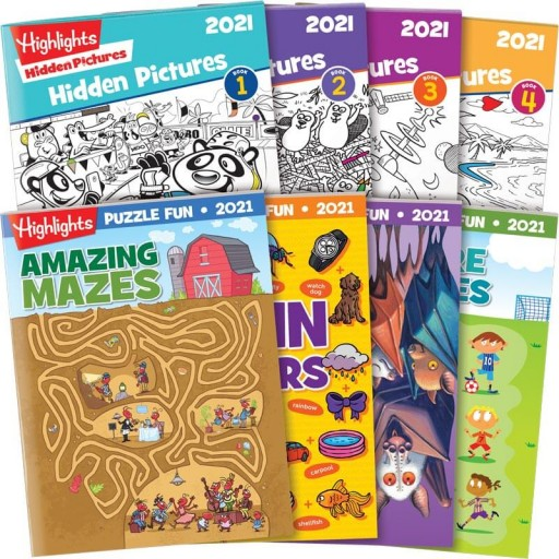 Best of 2021 Hidden Pictures + Puzzle Fun Collection with 8 books