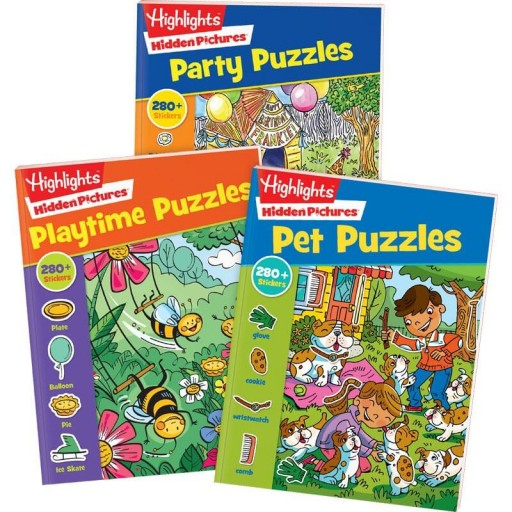 Hidden Pictures Stickers Collection, set of 3 books