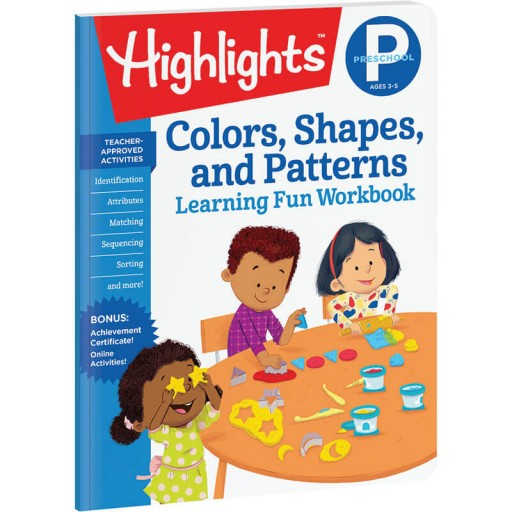 Preschool Learning Fun Workbook: Colors, Shapes, and Patterns