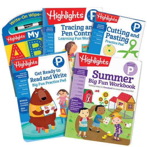 Summer Learning Pack: Getting Ready for Preschool, with 5 books