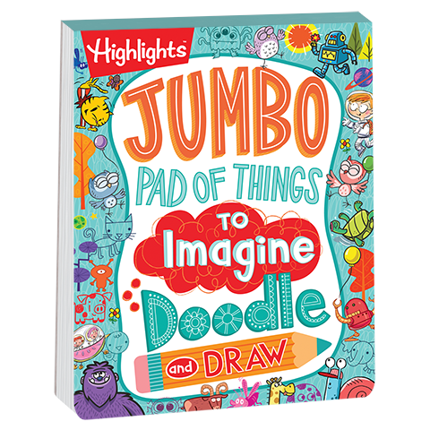 Jumbo Pad Of Things To Imagine Doodle And Draw